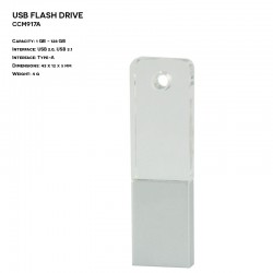 Pendrive ER CLASSIC CCM319A Metalowo - Szklany