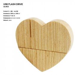 Wooden ER HEART UL403 Pendrive