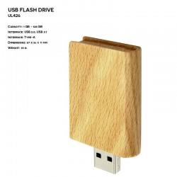 Wooden ER BOOK UL426 Pendrive
