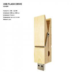 Wooden ER CLIP UL424 Pendrive