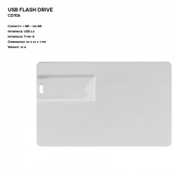 Plastic ER CARD CD106 Pendrive