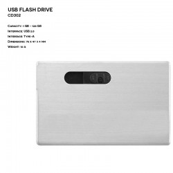 Metal ER CARD CD302 Pendrive