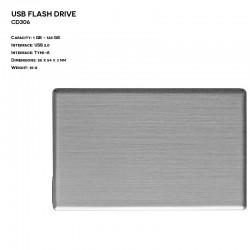 Metal ER CARD CD306 Pendrive