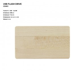 Wooden ER CARD CD401 Pendrive