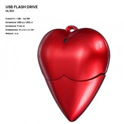 Plastic ER HEART UL103 Pendrive