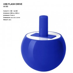 Plastic ER SPINNING TOP UL122 Pendrive